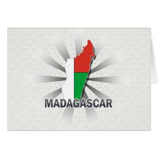 Madagascar Flag Map 2.0 Card