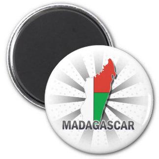 Madagascar Flag Map 2.0 Magnet