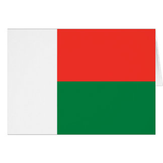 Madagascar Flag Notecard