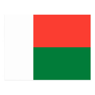 Madagascar Flag Postcard