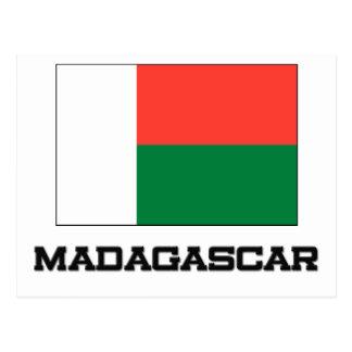 Madagascar Flag Postcard