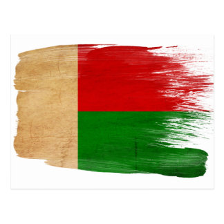 Madagascar Flag Postcards
