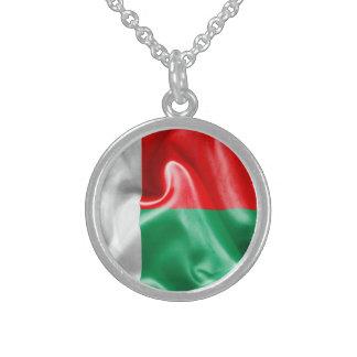 Madagascar Flag Round Pendant Necklace
