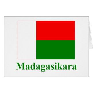 Madagascar Flag with Name in Malagasy Cards