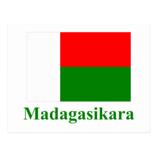Madagascar Flag with Name in Malagasy Post Cards