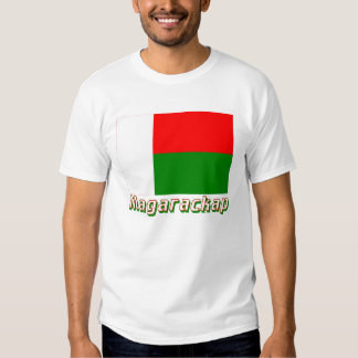 Madagascar Flag with name in Russian Shirts