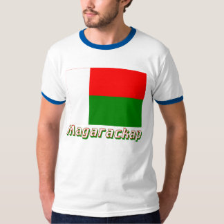Madagascar Flag with name in Russian T-Shirt