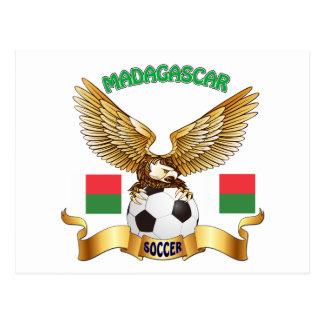 Madagascar Football Designs Postcard