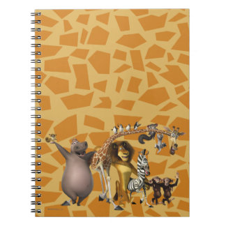 Madagascar Friends Spiral Note Books