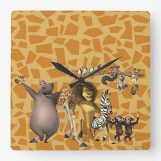 Madagascar Friends Wall Clocks