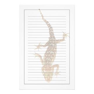 Madagascar ground gecko (Paroedura pictus) on Stationery