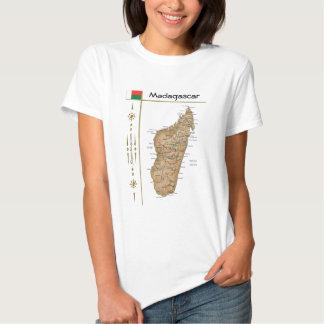 Madagascar Map + Flag + Title T-Shirt