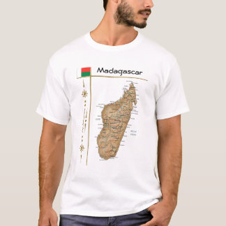 Madagascar Map + Flag + Title T-Shirt
