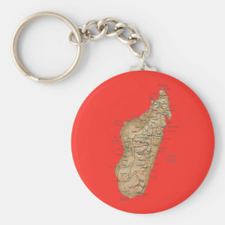 Madagascar Map Keychain