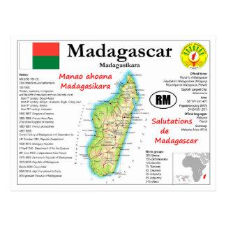 Madagascar map Postcard
