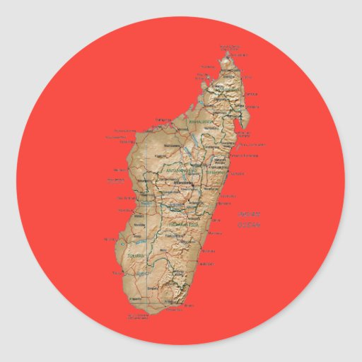 Madagascar Map Sticker