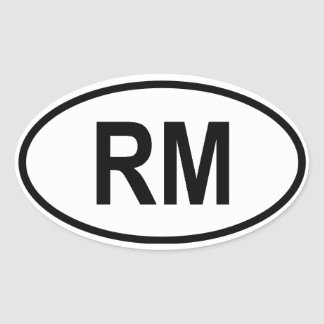 "Madagascar ""RM"" Oval Stickers"