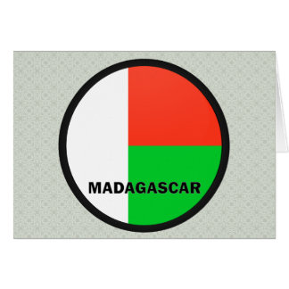 Madagascar Roundel quality Flag Cards