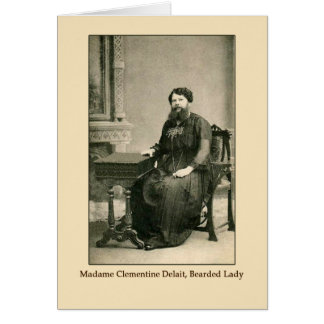 Madam Clementine Delait, Bearded Lady Greeting Card