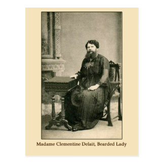 Madam Clementine Delait, Bearded Lady Post Card