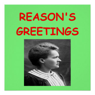 madam curie christmas posters
