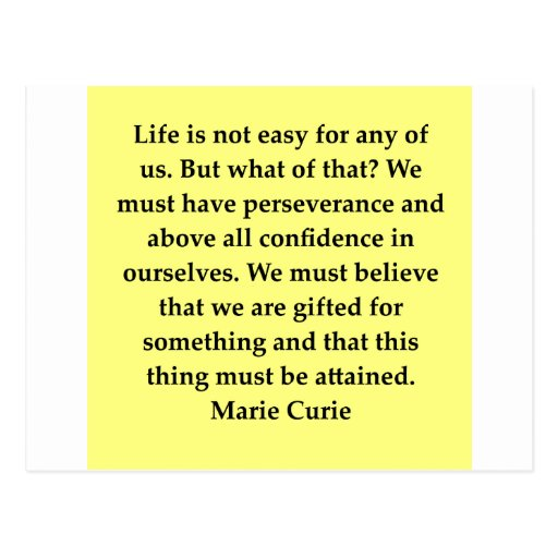 Madam Curie quote Postcards