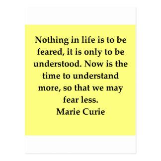 Madam Curie quote Postcard