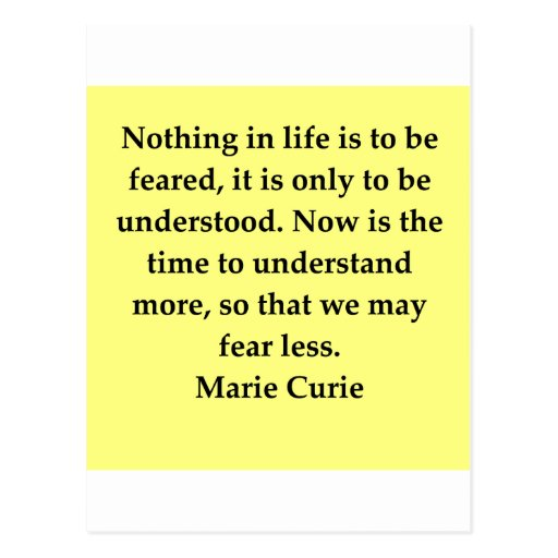 Madam Curie quote Post Card