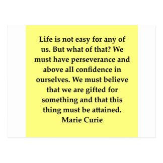 Madam Curie quote Postcards