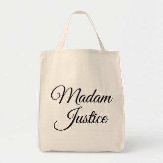 Madam Justice Grocery Tote Bag