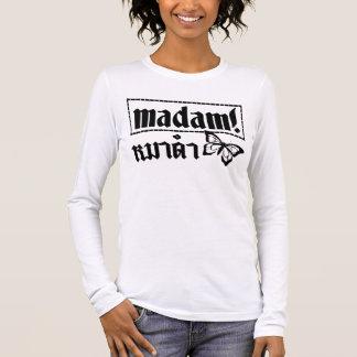 MADAM ☆ Maa Dam is BLACK DOG in Thai Language ☆ Long Sleeve T-Shirt
