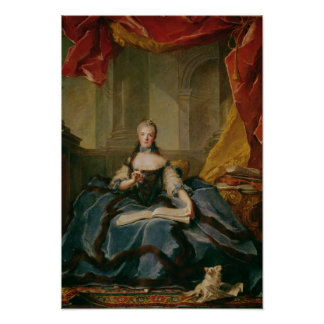 Madame Adelaide de France  in Court Dress, 1758 Poster