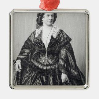 Madame Anna Bishop Silver-Colored Square Decoration