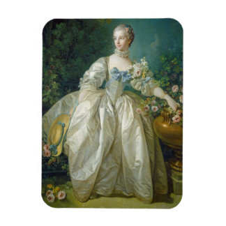 Madame Bergeret, c. 1766 (oil on canvas) Rectangular Photo Magnet