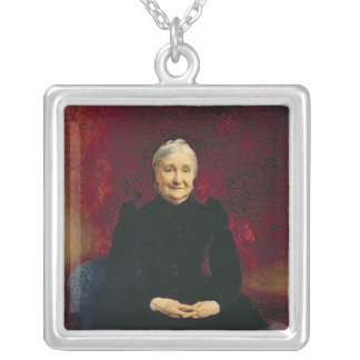 Madame Bonnat, the artist's mother, 1893 Silver Plated Necklace