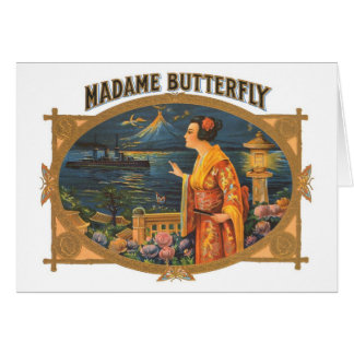 Madame Butterfly Greeting Cards