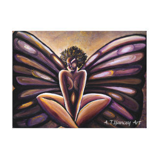 Madame Butterfly III Stretched Canvas Print