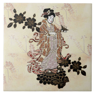 Madame Butterfly Large Square Tile