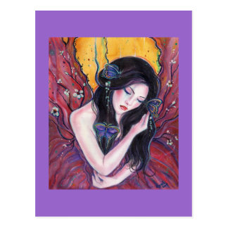 Madame Butterfly postcard by Renee Lavoie