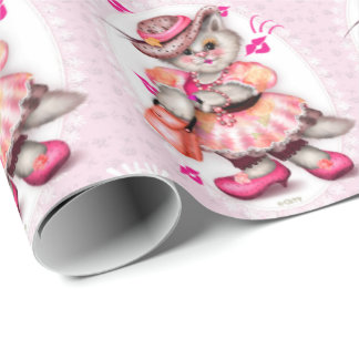 MADAME CAT 2 CARTOON Wrapping Paper
