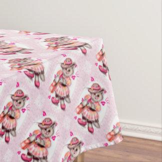 "MADAME CAT 2 Tablecloth COLOR LIPS 52""x70"""