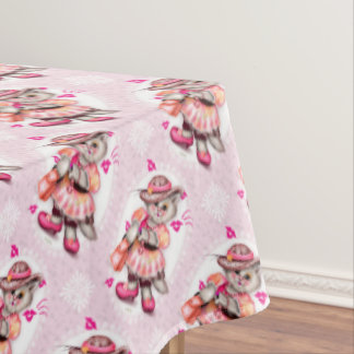 "MADAME CAT 2 Tablecloth COLOR LIPS 60""x84"""
