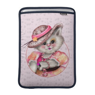 "MADAME CAT CUTE CARTOON Macbook Air 13"" MacBook Sleeve"