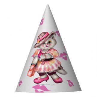 MADAME CAT LOVE CARTOON Party Hat