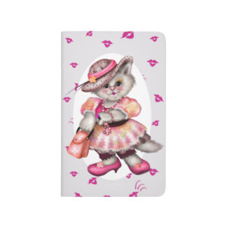 MADAME CAT LOVE CARTOON Pocket Journal