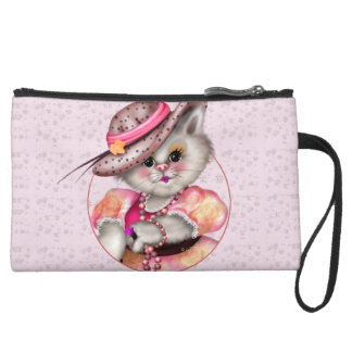 MADAME CAT Sueded Mini Clutch Bag