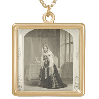 Madame Celeste as the Princess Katherine, Act V Sc Gold Plated Necklace