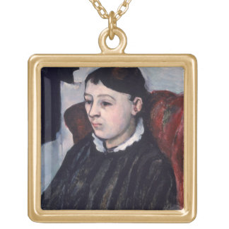 Madame Cezanne, c.1883-85 (oil on canvas) Necklace