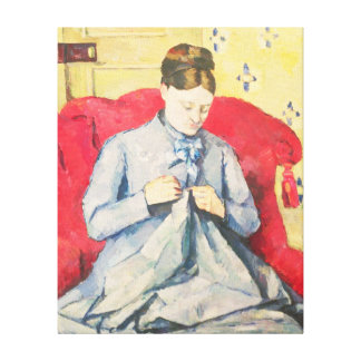 Madame Cezanne sewing Canvas Print