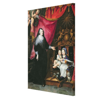 Madame de Lansac  and the Children of France Canvas Print